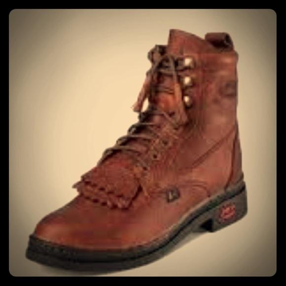c3856767330 Justin George Lace up double kiltie boot L0902